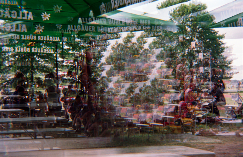 film photography prism lens fractal trippy psychedelic spiral beer garden summer germany gerlin