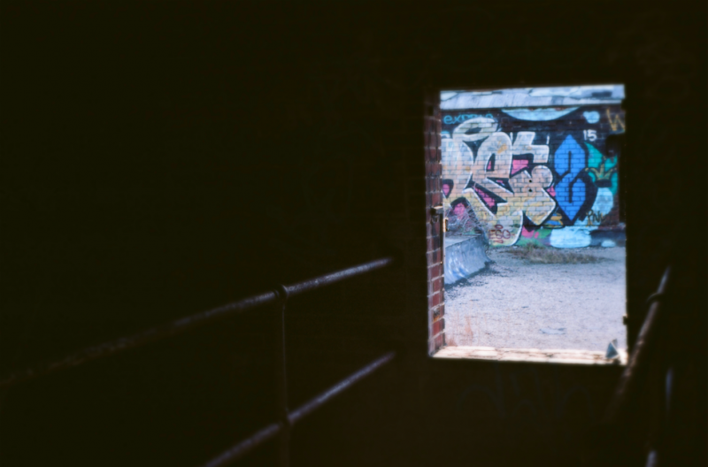 film photography urbex abandoned ruinporn crumbling debris king's park asylum  graffiti chiaroscuro