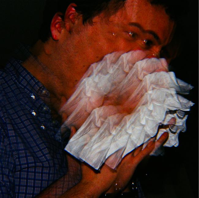 film photograph prism lens spiral trippy fractal psychedelic sneeze man tissue