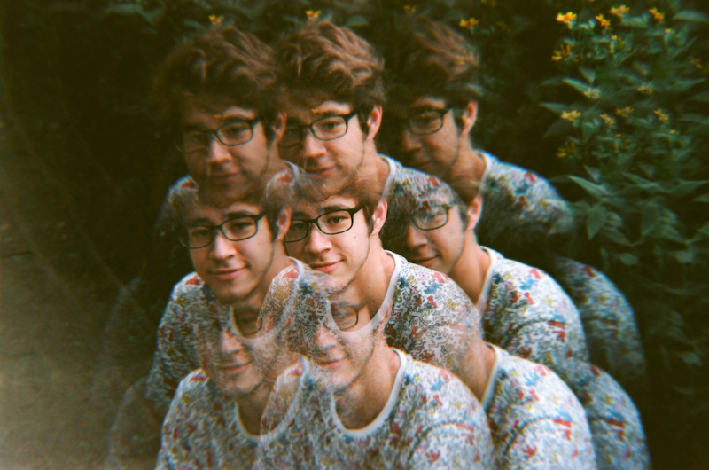 film photograph portrait young man trippy prism lens h0les pixel hapa