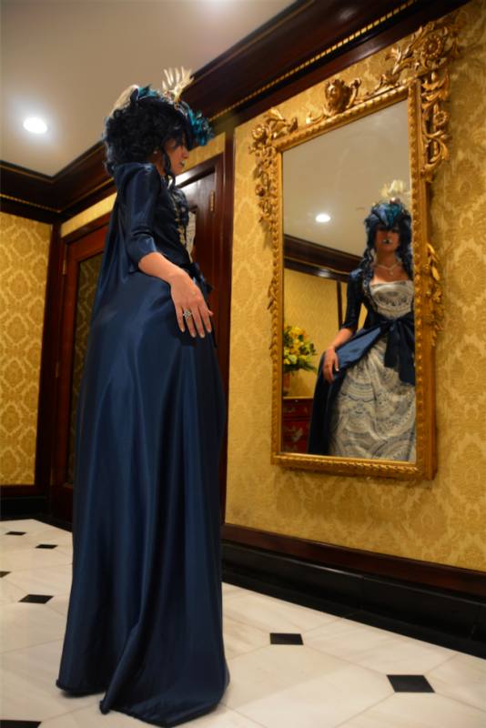 snorlax marie antoinette cosplay dress pokemon hapa zena hardtshaped turquoise lace hotel elysee nyc new york hat pokeball mirror gilded