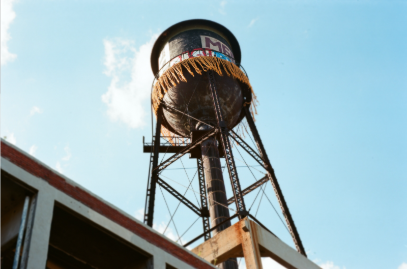 film photograph detroit water tower fringe decoration