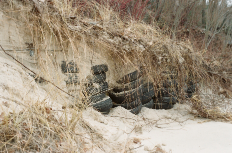 beach sand dune tires crumbling
