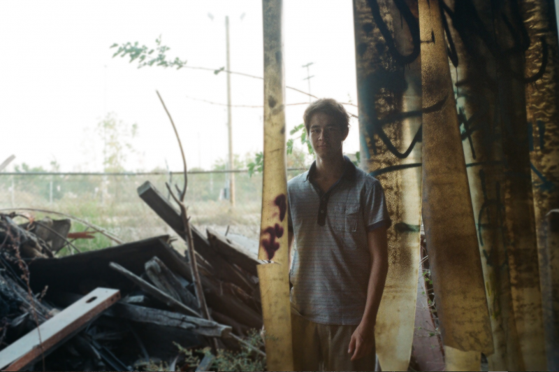 film photograph young man hapa boy abandoned urbex building exploring