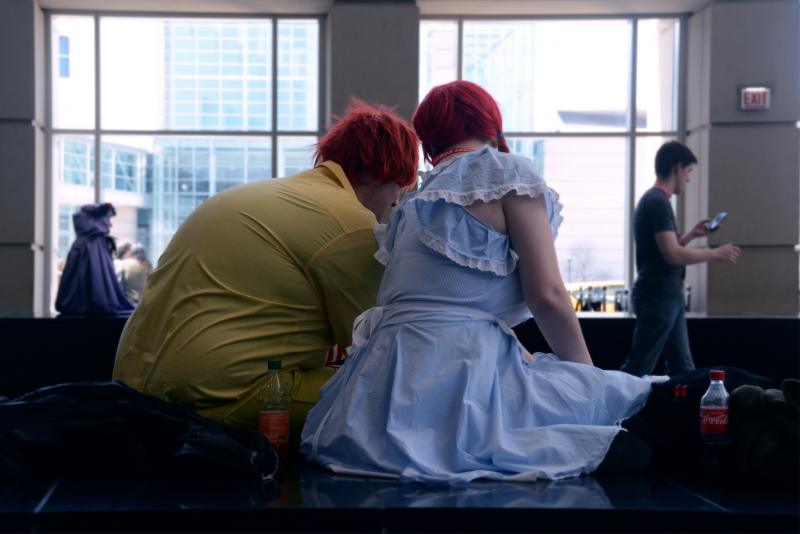 digital photograph portrait cosplay convention c2e2 chicago fast food ronald mcdonald couple wendys