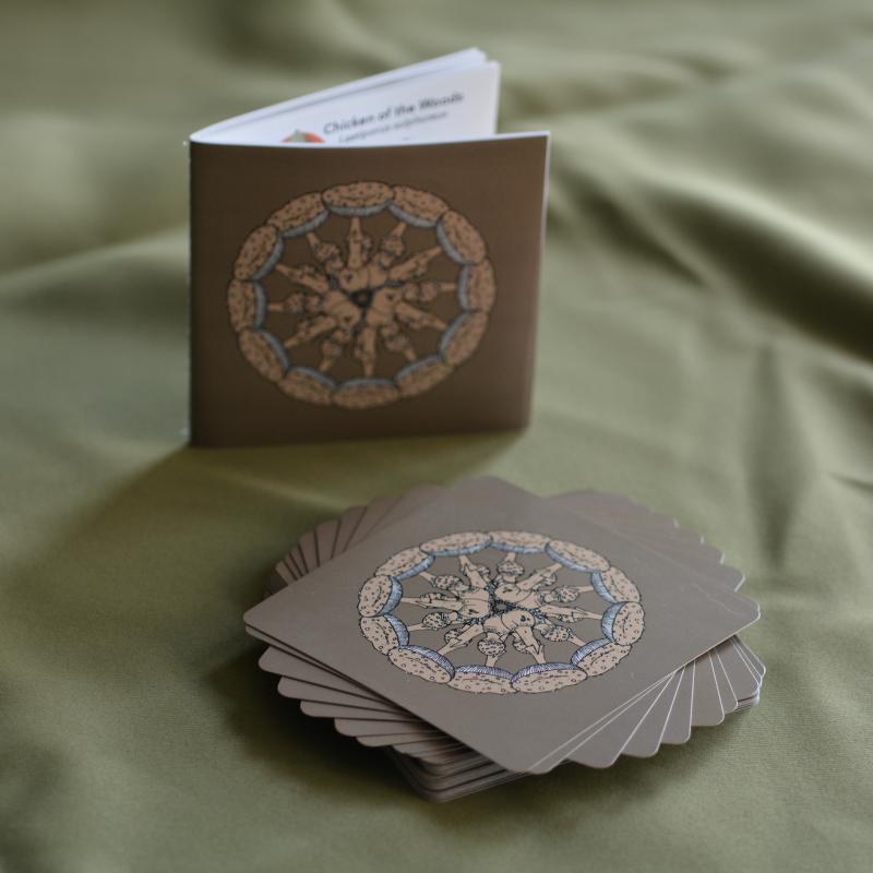 oracle card deck tarot unique handmade mushrooms fungi chakras fortune telling