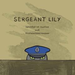 cat cartoon illustration pen ink drawing children's book cute sergeant police gray watercolor hat table peering peeping