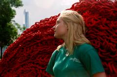 film photograph portrait young woman profile blonde sunshine
