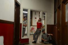 digital photography portrait doubles trick young man standing doorway