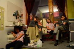 digital photography portrait doubles trick young men sitting suit dapper