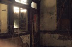 film photograph abandoned junk rubbish strings cobwebs