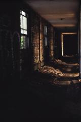 film photograph abandoned junk rubbish corridor