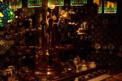 retro steampunk espresso coffee machine maker brass teacups