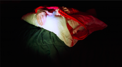film photograph chiaroscuro light portrait darkness hands pillow bed tied red rope shibari bondage