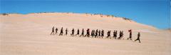 film photograph beach dunes sand running training jogging marine corps flag