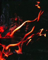 film photograph fire flame chiaroscuro