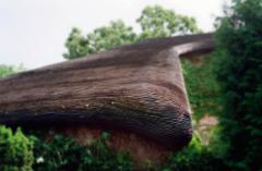 film photograph nature roof shingle peaceful nature green hobbit house