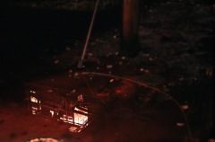 film photography urbex abandoned ruinporn reflection puddle chiaroscuro