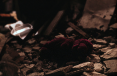film photography urbex abandoned ruinporn debris barney toy stuffed animal