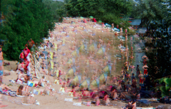 film photography prism lens fractal trippy psychedelic spiral beach people summer colorful