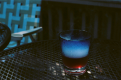 film photograph glass vape smoke juice drink