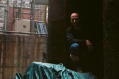 film photography portrait chiaroscuro shadows young man