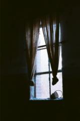 film photography urbex abandoned ruinporn crumbling debris king's park asylum chiaroscuro window curtains creepy