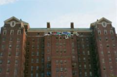film photography urbex abandoned ruinporn crumbling debris king's park asylum graffiti massive building