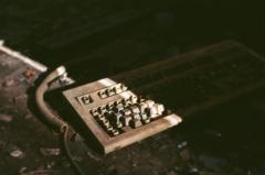 film photography urbex abandoned ruinporn crumbling debris king's park asylum keyboard trash