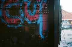 film photography urbex abandoned ruinporn crumbling debris king's park asylum graffiti switchboard