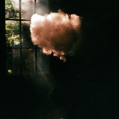 film photograph chiaroscuro vape vaping cloud vapor sunlight shadow window ray sunshine
