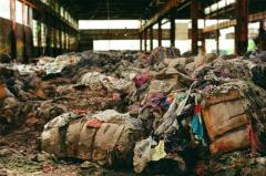 film photography urbex abandoned ruinporn crumbling debris gary indiana screw bolt factory clothing rotting mountain piles