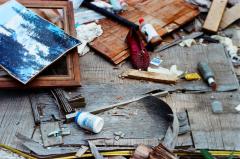 film photography urbex abandoned ruinporn crumbling debris screw and bolt factory gary shoe glue
