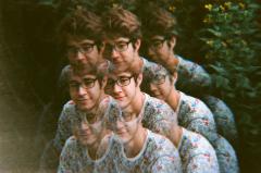 film photograph portrait young man trippy prism lens h0les pixel hapa