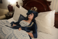 snorlax marie antoinette cosplay dress pokemon hapa zena hardtshaped turquoise lace hotel elysee nyc new york hat pokeball bed asleep