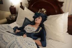 snorlax marie antoinette cosplay dress pokemon hapa zena hardtshaped turquoise lace hotel elysee nyc new york hat pokeball bed asleep