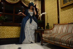 snorlax marie antoinette cosplay dress pokemon hapa zena hardtshaped turquoise lace hotel elysee nyc new york hat pokeball telephone sofa