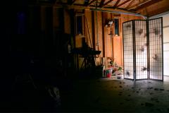 digital photograph garage screen paper folding japanese shoji traditional wood creepy shadow silhouette ghosts hand