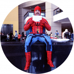 digital photograph portrait cosplay convention c2e2 chicago spiderman