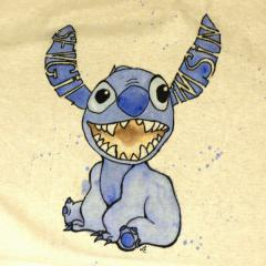 lilo and stitch cute cartoon tshirt design seni seviyorum i love you turkish